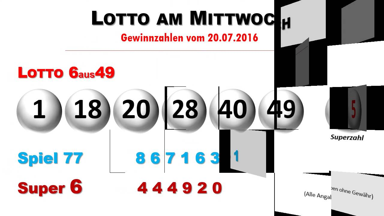 Totoloto Am Mittwoch