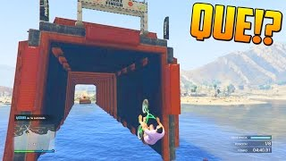 INCREIBLE!! UN TUNEL DE AGUA!! - Gameplay GTA 5 Online Funny Moments (Carrera GTA V PS4)