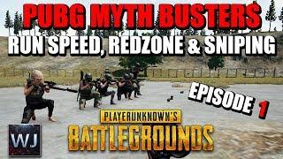 PUBG MYTH BUSTERS: Pistol Run speed, Redzone & Sniping 2000 meters - EPISODE 1