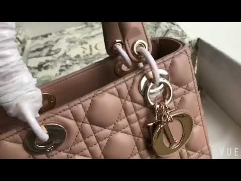8a9bef1005 Christian Dior MY ABCDIOR LAMBSKIN BAG Nude - YouTube