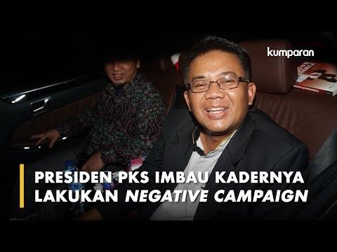 Presiden PKS Imbau Kadernya Lakukan Negative Campaign