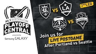 Real Salt Lake vs. Galaxy / Timbers vs. Sounders Live Postgame Show | Playoff Central
