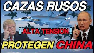 Cazas Rusos Sukhoi PATRULLAN y  Protegen MAR de  China ¡ EU NERVIOSO !