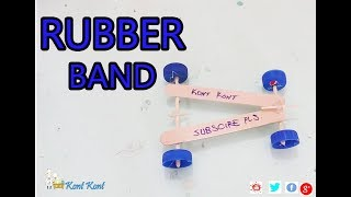 How to Make a Mini  Rubber Band  Car// Toy Car/ Oyuncak araba nasil yapilir evde