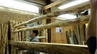 Lonepine Lodgepole Log Bunk Bed Assembly
