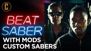 Playing Beat Saber with Mods (Custom Sabers) -  Lonely Island, Kendrick Lamar & More!