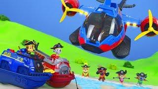 PAW Patrol Unboxing: Piraten Spielzeugautos von Chase, Ryder, Feuerwehrmann Marshall, Skye & Rubble