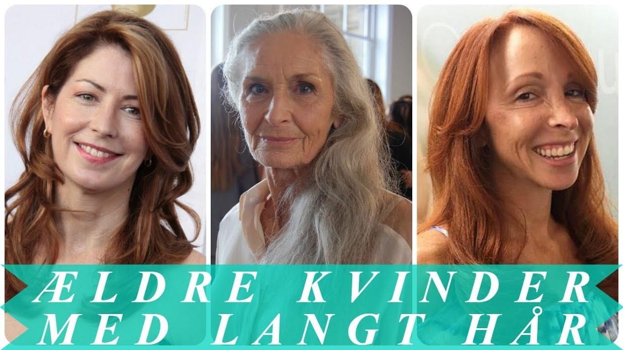 Langt hår frisurer til ældre kvinder - YouTube
