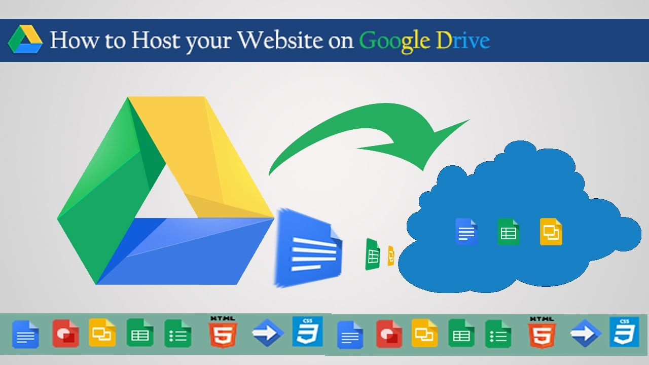 how to make a website on google drive