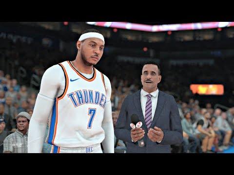 NBA 2K18 | Carmelo TRADED to OKC!!!  Oklahoma City Thunder vs New York Knicks Gameplay