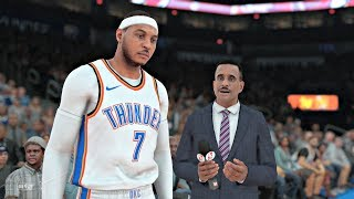 NBA 2K18 | Carmelo TRADED to OKC!!!  Oklahoma City Thunder vs New York Knicks Gameplay