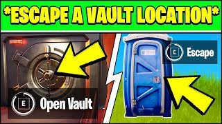 HOW TO ESCAPE A VAULT USING A SECRET PASSAGE LOCATION (Fortnite Week 7 Challenges)