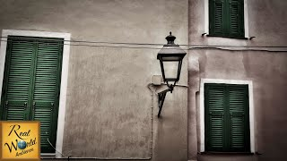 Diano Castello Rain & Thunder Sounds - 4k ASMR Metal Street Lamp Tingles - Relaxing Ambience