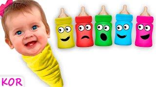 아기와 놀아주고 있는 마야  재미있는 어린이 노래