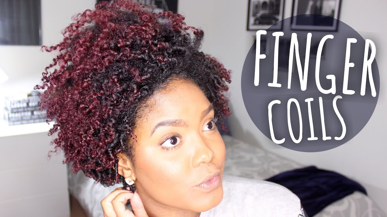 Styling My Tapered Fro Finger Coils On Natural Hair Youtube