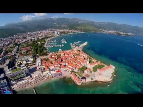 Montenegro Budva and Sveti Nikola Air video from a Drone FPV