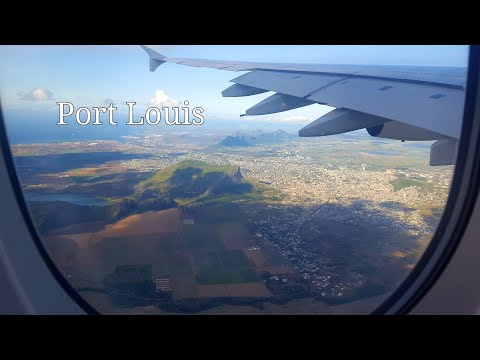 Emirates A380 800 Landing in Mauritius featuring Agalega, North coast and Port Louis 4K