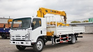 Грузовик ИСУЗУ с манипулятором 5 тонн: тестовая работа(http://www.alphagp.ru/news/gruzoviki-avtofurgoni-isuzu-ql1100-5-tonn - подробные технические характеристики, цена, наличие грузовиков..., 2014-09-17T05:14:36.000Z)