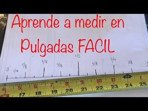 Como Medir En PULGADAS ( FÁCIL ) / How to read a tape measure,,,,
