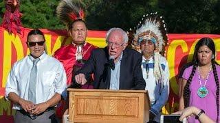 Bernie Sanders Joins Dakota Access Pipeline Protest