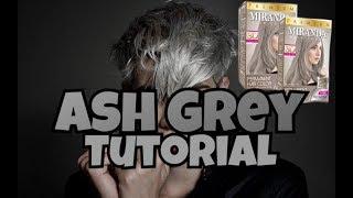 [tutorial] Cara Cat Rambut Silver / Ash Grey Menggunakan produk baru miranda