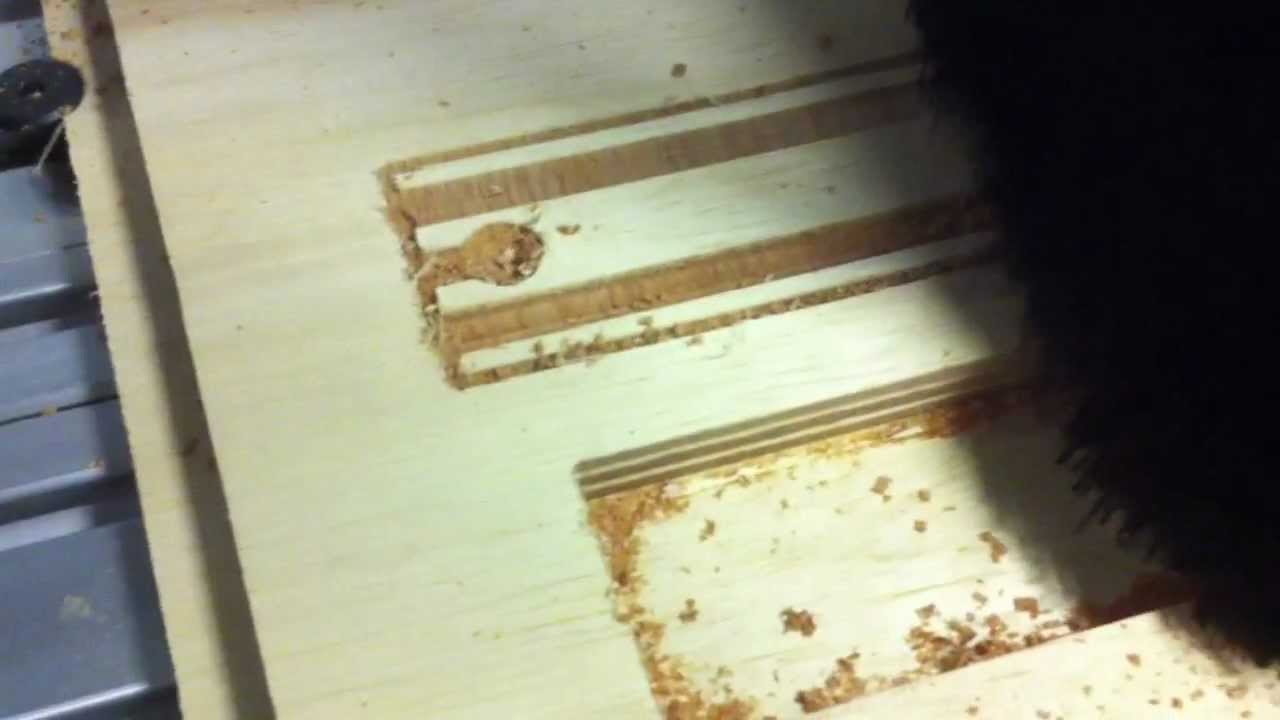 Cutting Wooden Train Track On A Shopbot Desktop