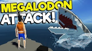 MEGALODON SHARK SURVIVAL! - Stormworks: Build and Rescue Gameplay - Sinking Ship Survival