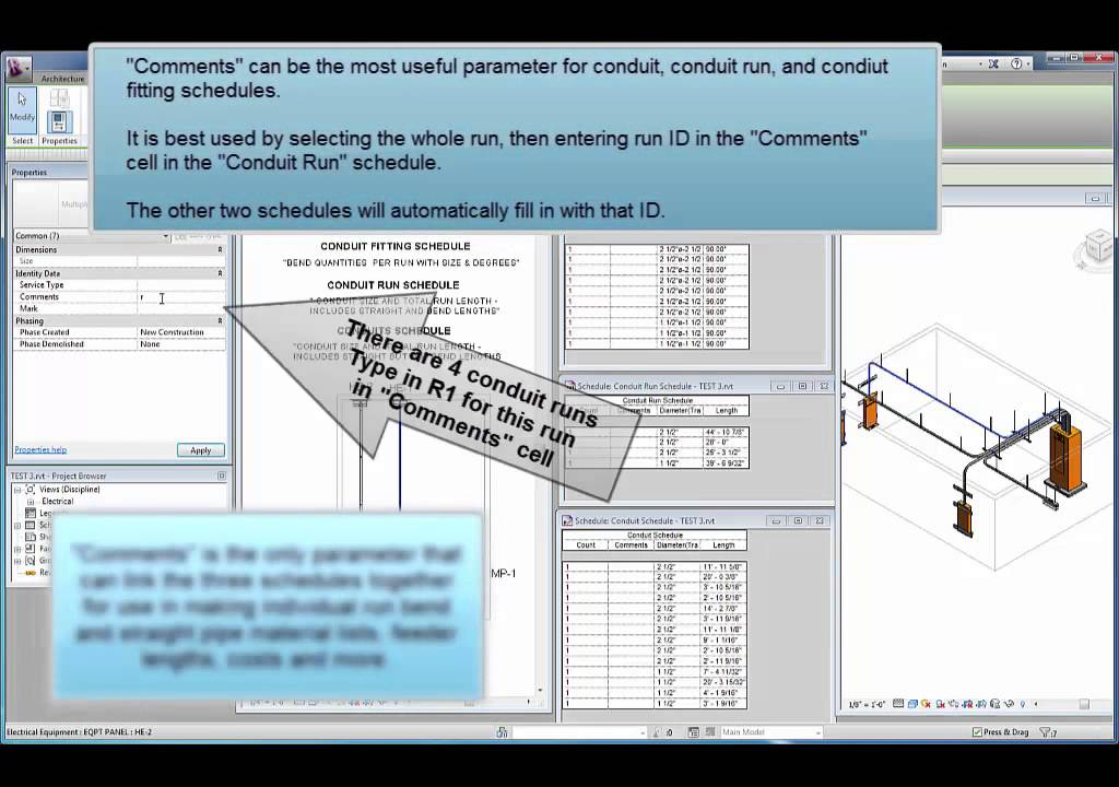 Revit Electrical Conduit Schedules - YouTube