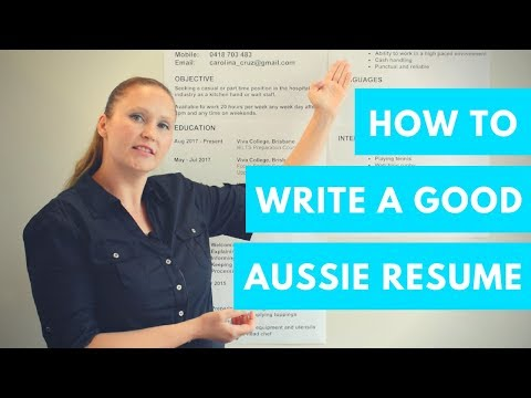 How To Find A Job In Australia – Writing A Good Resume 👌