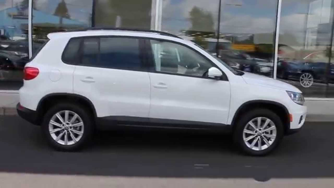 2015 volkswagen tiguan pure white stock 110399 walk. Black Bedroom Furniture Sets. Home Design Ideas