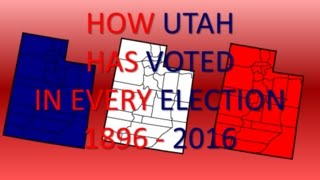 How Utah has voted in every Presidential Election