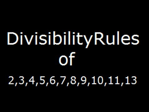 Divisibility rules for 234567891011 and 13 youtube divisibility rules for 234567891011 and 13 freerunsca Image collections