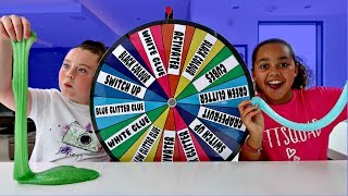 MYSTERY WHEEL OF SLIME SWITCH UP CHALLENGE!!