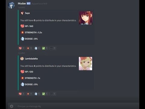 Mudae (multiplayer games bot for Discord)