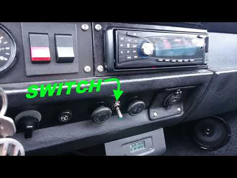 Ignition bypass Radio Switch