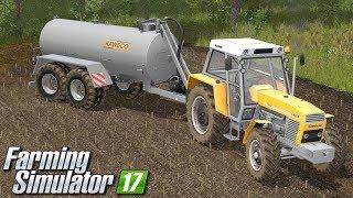 Rozlewanie obornika płynnego - Farming Simulator 17 | #72