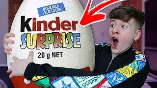 *MAKE YOUR OWN* Giant SOLID Kinder Egg!!! 🍫🍫