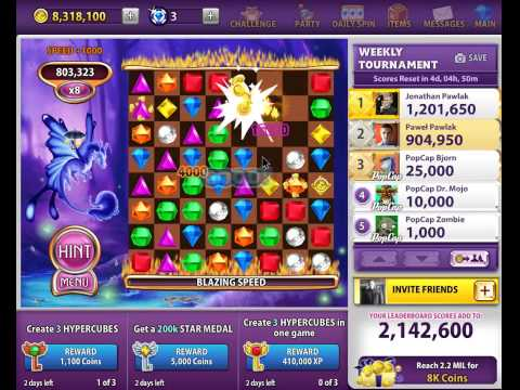 Bejeweled Blitz Gameplay: Coin Catcher