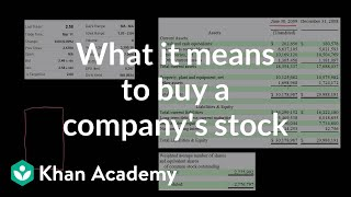 What it means to buy a company's stock | Stocks and bonds | Finance & Capital Markets | Khan Academy thumbnail