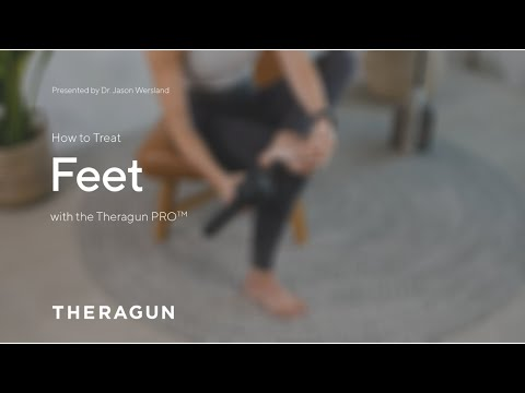 How To Treat Feet with your Theragun