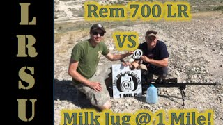 Long Range Shooting 1 Mile vs Milk Jug   Rem 700 LR   7 mm Rem Mag   Aaron Brown