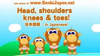 Head, Shoulders, Knees & Toes in Japanese!