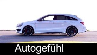 Mercedes CLA-Class 45 AMG Shooting Brake & Mercedes CLA 250 4MATIC exterior & interior