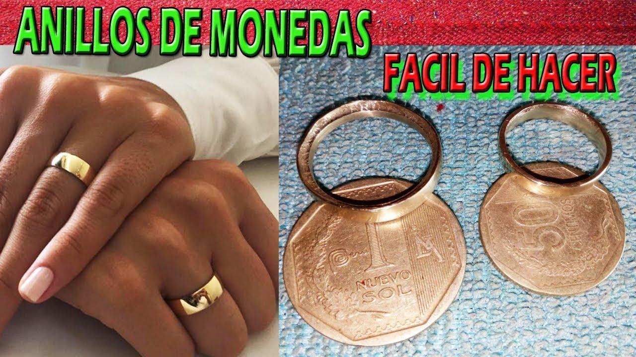 71709a830a05 COMO HACER UN ANILLO DE MONEDA PASO A PASO - ANILLOS CASERAS FÁCIL