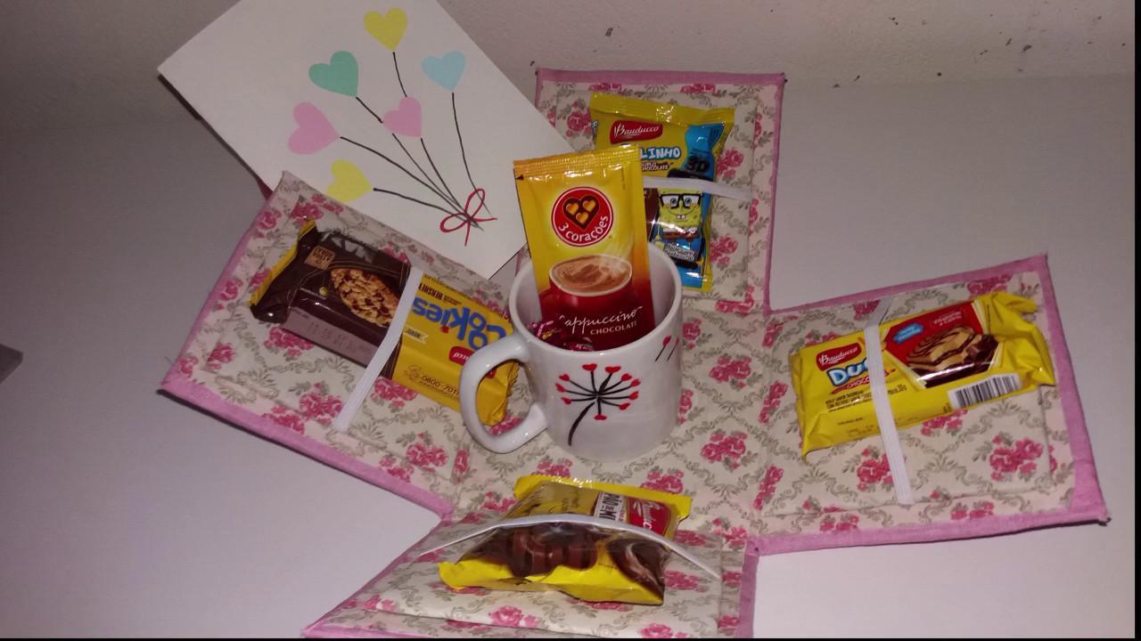 Diy Dia Das Mães Caixa Surpresa Caneca Personalizadacartão