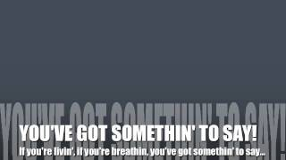 Something To Say by Matthew West (Lyrics)