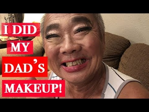 I DID MY DAD'S MAKEUP || Kylie Moy