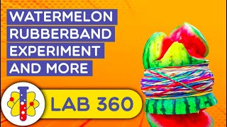 Watermelon Rubber Band Experiment | Amazing Science Experiments | Lab 360
