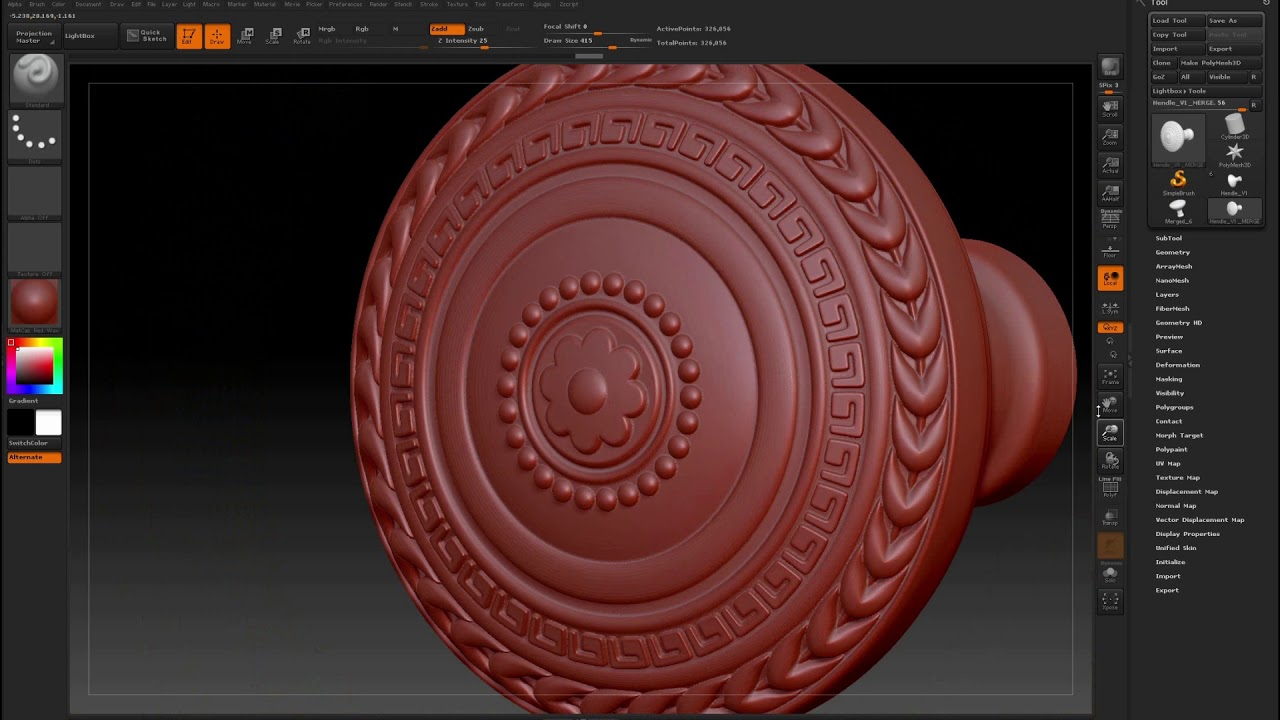 How to prepare the model for export so that the STL file  STL Export  (ZBRUSH) and Netfabb