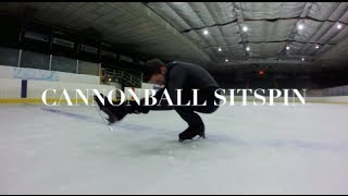 SLOW MOTION CANNONBALL SIT SPIN | FIGURE SKATING | GOPRO